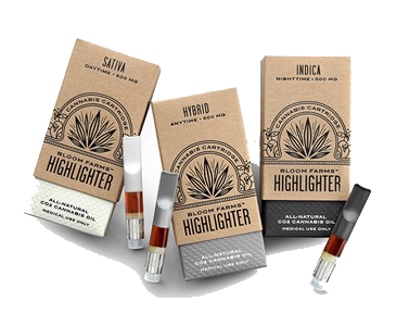 Bloom Farms Assorted Refill Hash Oil Cartridges 500MG of THC