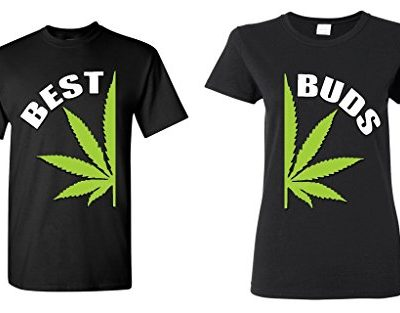 Couple-Matching-Best-Buds-Pot-Leaf-T-shirt-Marijuana-Weed-0