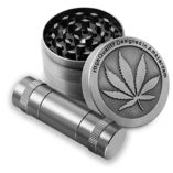 Formax420-Zinc-Alloy-Herb-Grinder-Leaf-Designed-on-Top-Part-50-mm-4-Piece-with-Free-Pollen-Presser-and-Pollen-Catcher-0