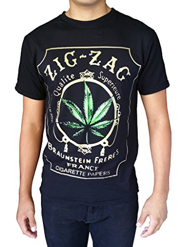 Gs-eagle-Mens-Printed-Weed-Marijuana-Cigarette-Graphic-Design-T-Shirts-0