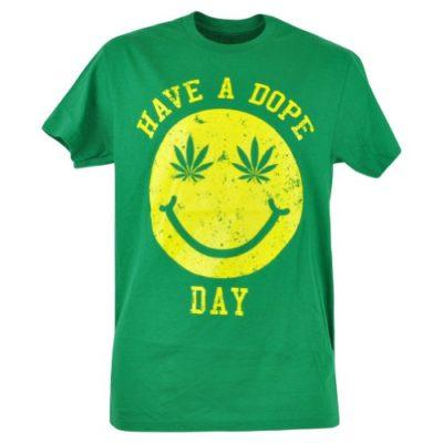 Have-A-Dope-Day-Ganja-Marijuana-Smiley-Face-Parody-Green-Funny-Tshirt-0