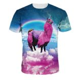 Jiayiqi-Colorful-3D-Cartoon-Printed-Short-Sleeve-T-Shirt-Fashion-Couple-Tees-0