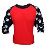 Mens-34-Marijuana-Leaf-Printed-Sleeves-T-Shirt-0-2