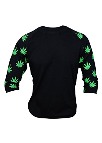 Mens-34-Marijuana-Leaf-Printed-Sleeves-T-Shirt-0