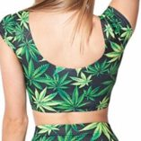 Neon-Nation-Marijuana-Weed-Print-Cap-Sleeve-Crop-Top-Shirt-0-0