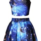 Pink-Queen-Galaxy-Print-Crop-Tank-TopPleated-Skater-Skirts-Set-For-Women-0-0