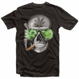 Weed-Cannabis-Marijuana-Smoking-Skull-Blunt-Get-High-Mens-Tshirt-0