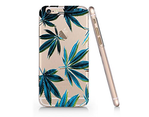 Cannabis Weed Leaves Slim Iphone 7 Case, Clear Iphone 7 Case Plastic Hard Case Unique Design By SUPERTRAMPshop (AM520.7sl)